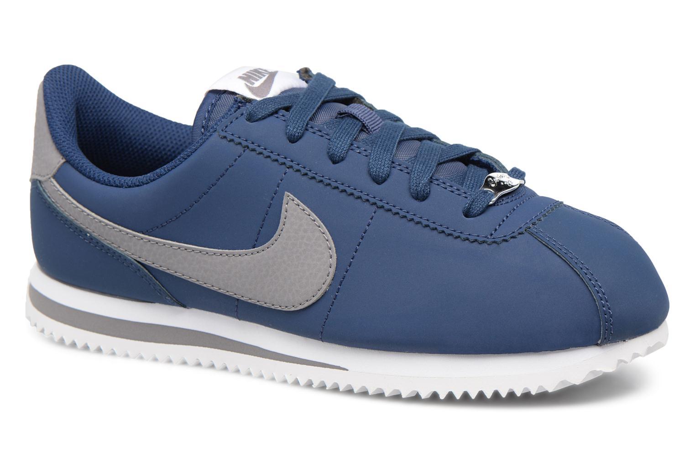 Baskets Nike Cortez Basic Sl (Gs) Bleu vue détail/paire