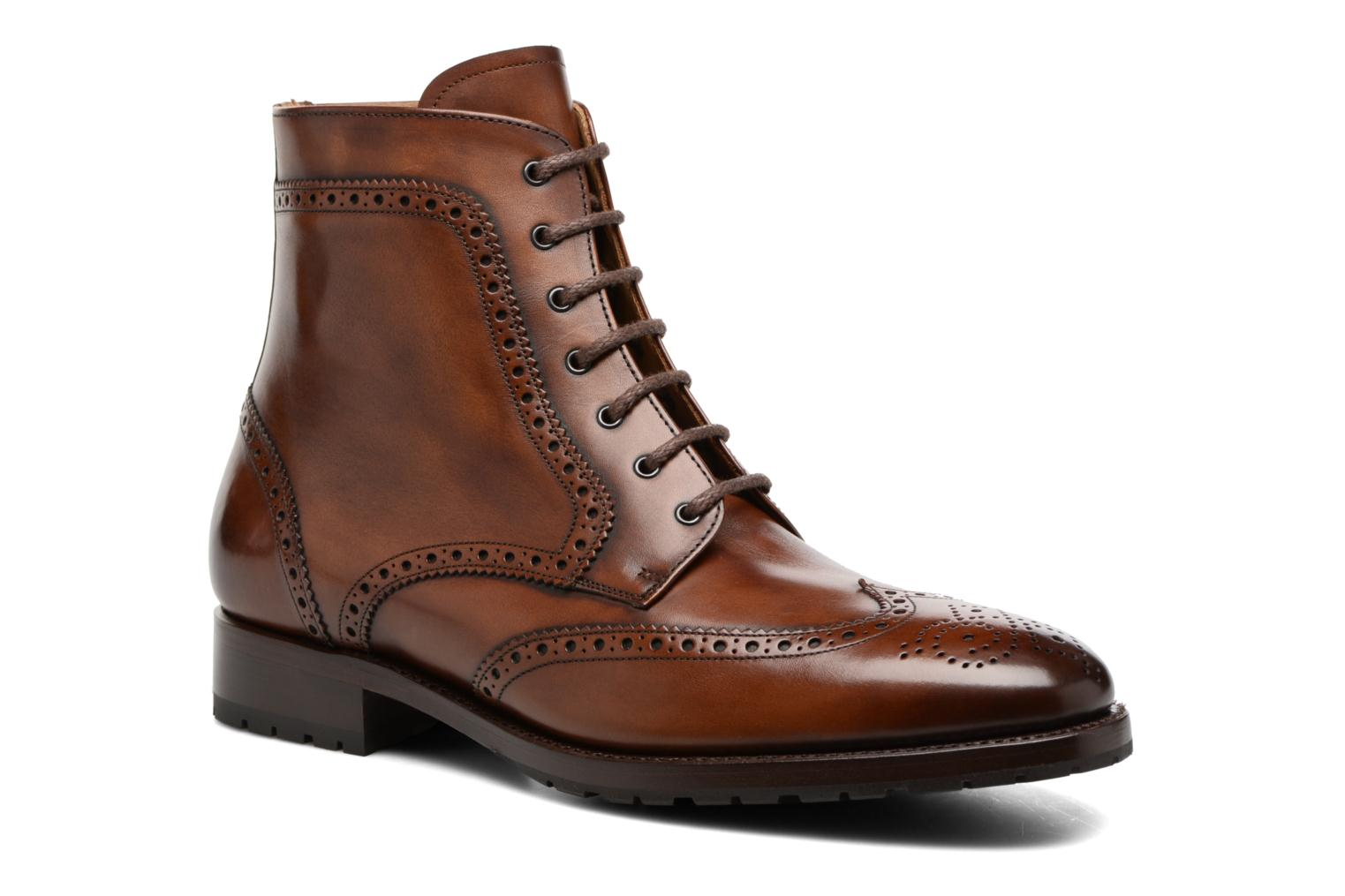 Bottines et boots Marvin&Co Luxe Westner - Goodyear Marron vue détail/paire
