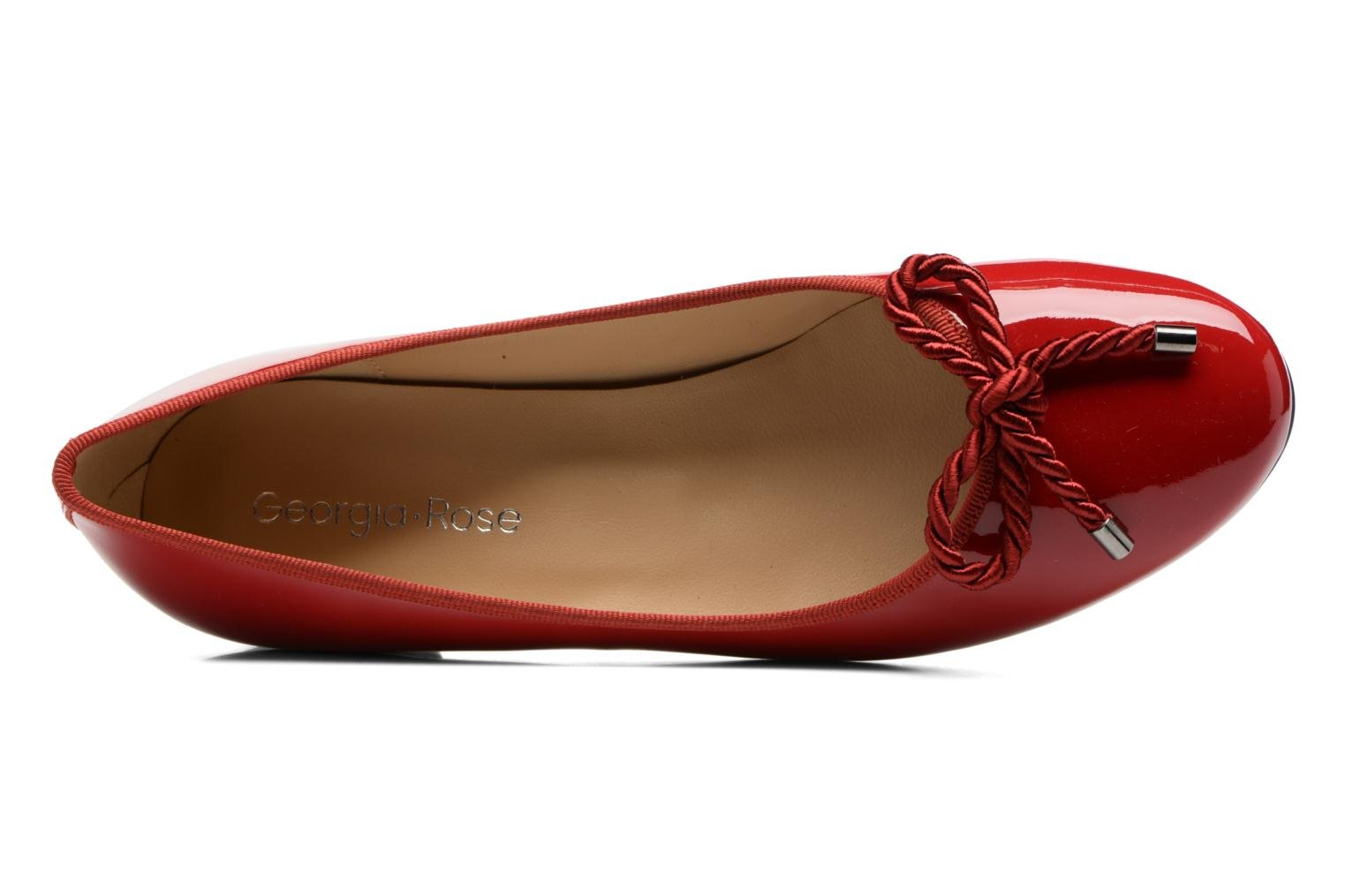 Sacouva cuir vernis rouge