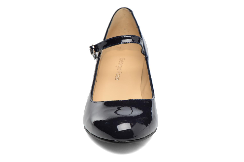 Zapatos de tacón Georgia Rose Satina Azul vista del modelo