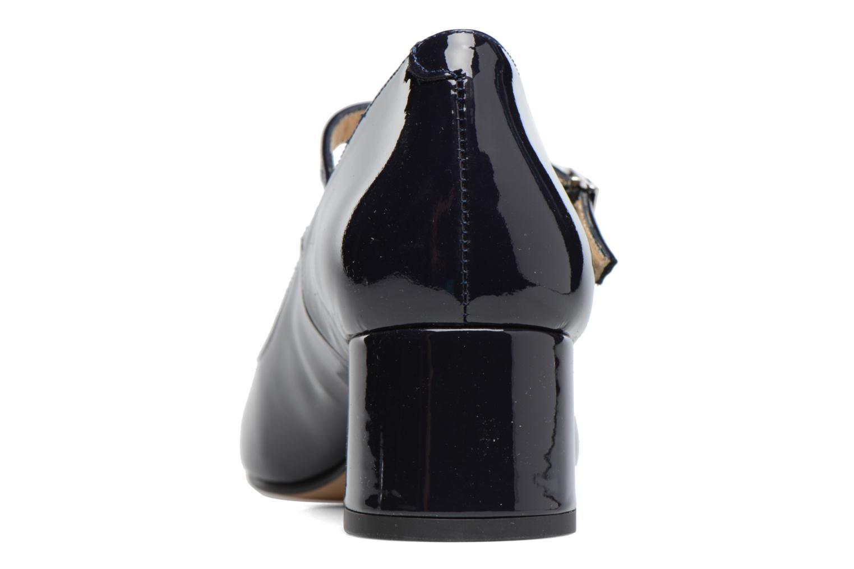 Zapatos de tacón Georgia Rose Satina Azul vista lateral derecha
