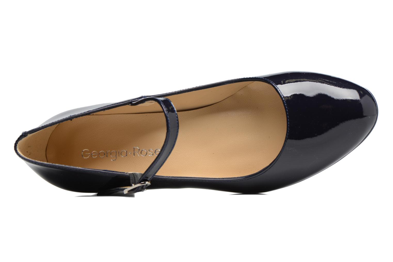 Zapatos de tacón Georgia Rose Satina Azul vista lateral izquierda
