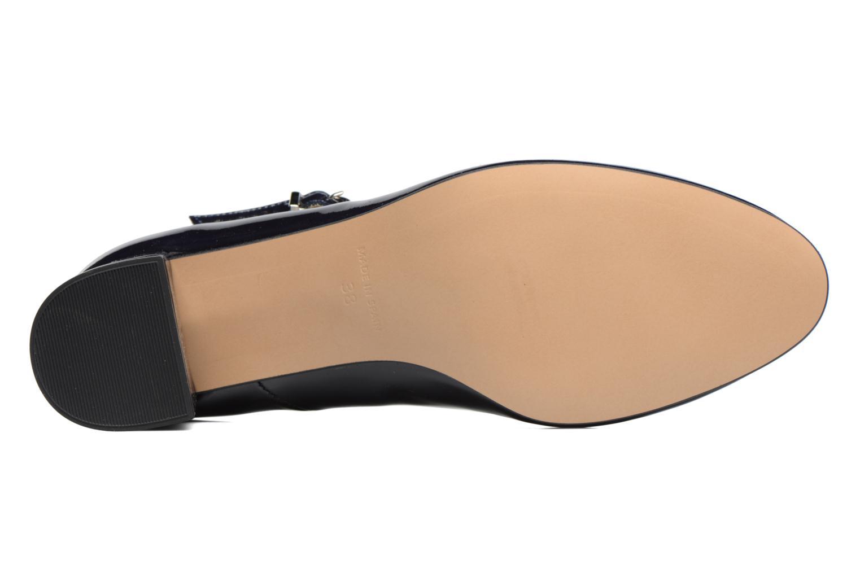 Zapatos de tacón Georgia Rose Satina Azul vista de arriba