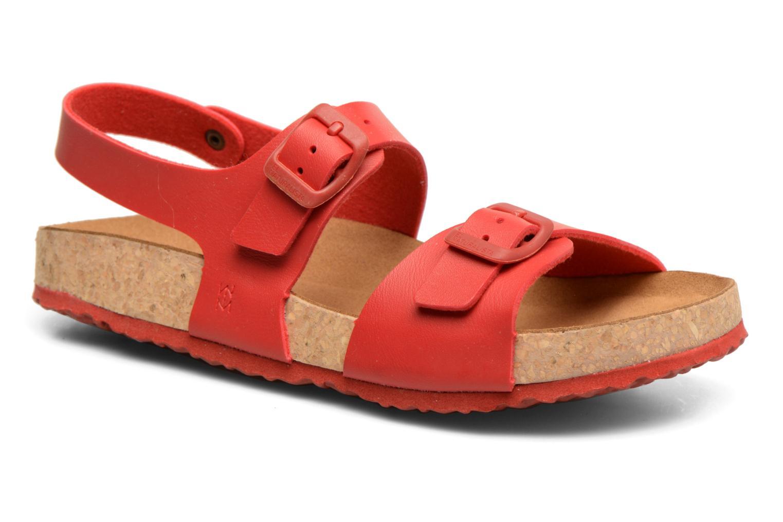 Sandales et nu-pieds El Naturalista Waraji NE57 Rouge vue détail/paire