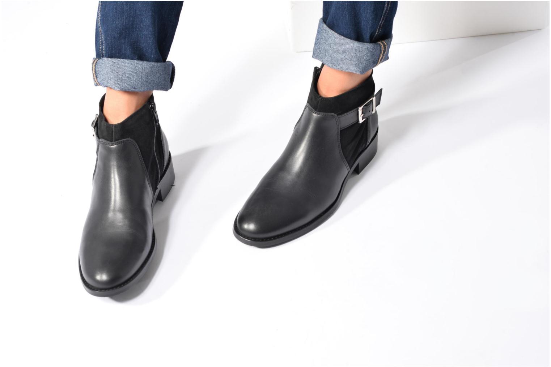 Bottines et boots Georgia Rose Cevora Noir vue bas / vue portée sac