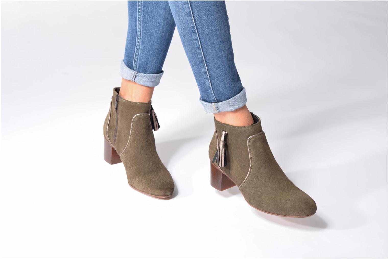 Bottines et boots Georgia Rose Cemode Vert vue bas / vue portée sac