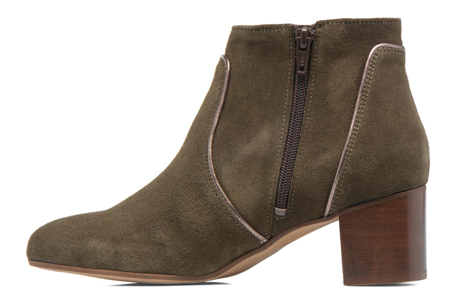 Ankle boots Georgia Rose Cemode Green front view