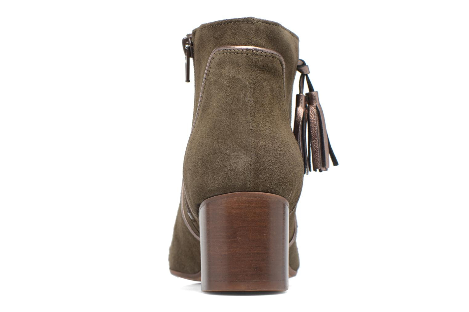 Ankle boots Georgia Rose Cemode Green view from the right