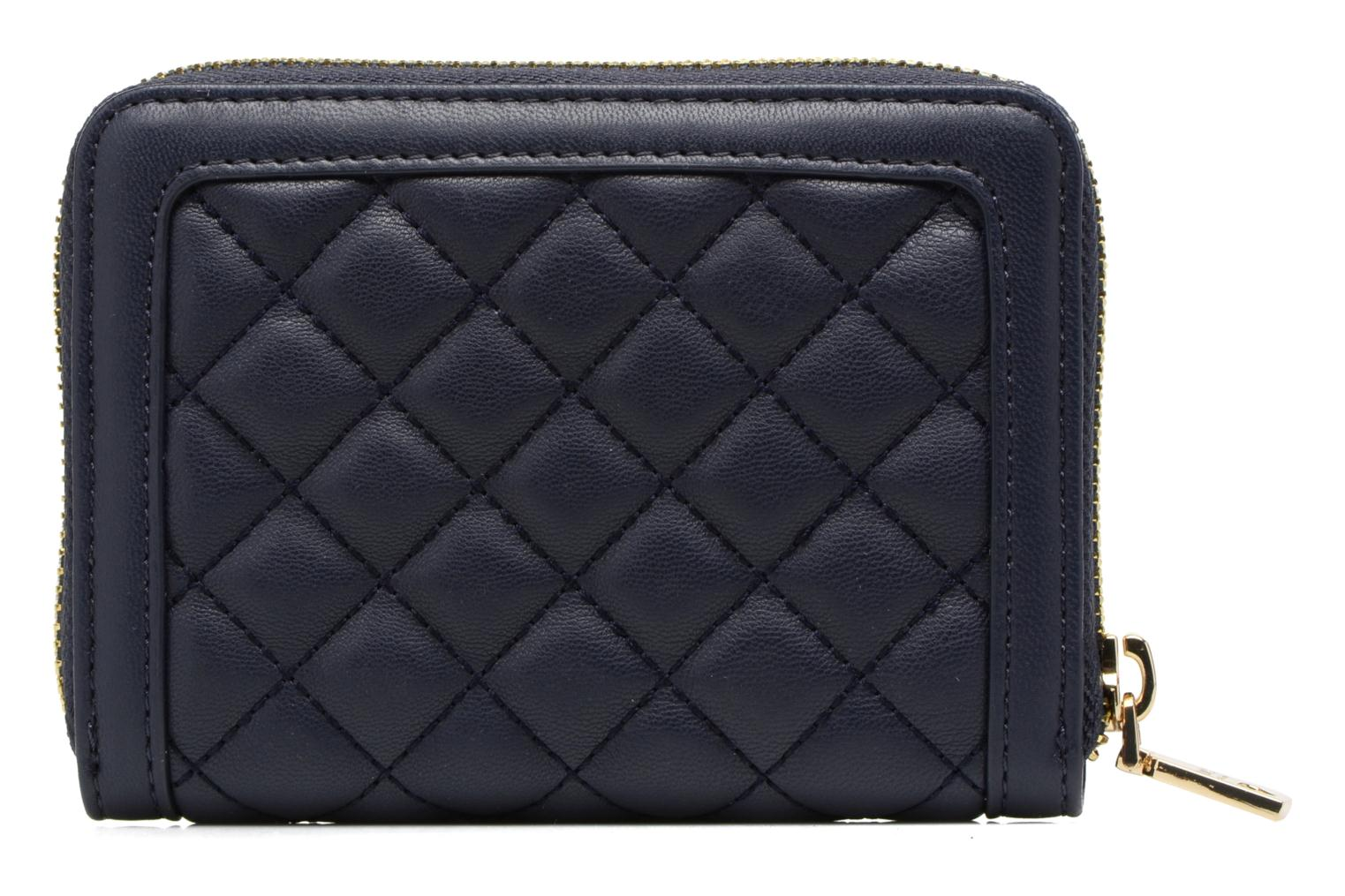 Petite Maroquinerie Love Moschino Portefeuille M Zip Around Quilted Bleu vue face