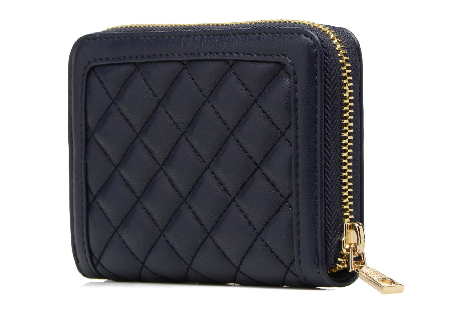 Petite Maroquinerie Love Moschino Portefeuille M Zip Around Quilted Bleu vue droite