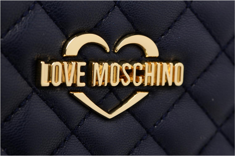 Petite Maroquinerie Love Moschino Portefeuille M Zip Around Quilted Bleu vue gauche