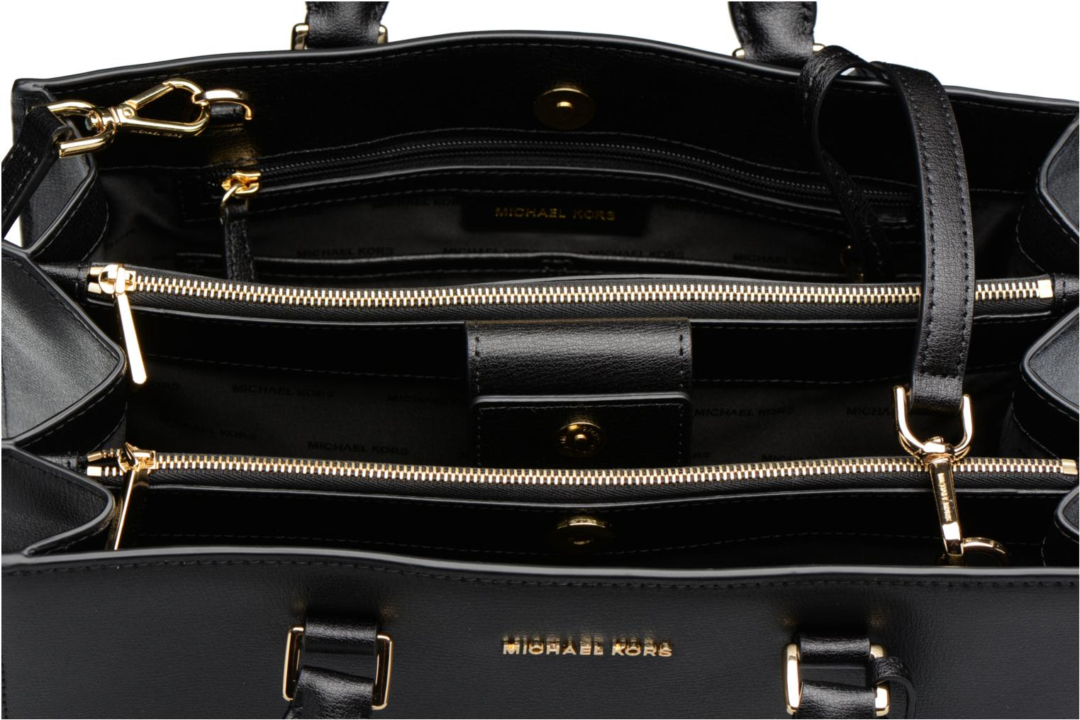 Sutton LG Gusset Satchel 001 black
