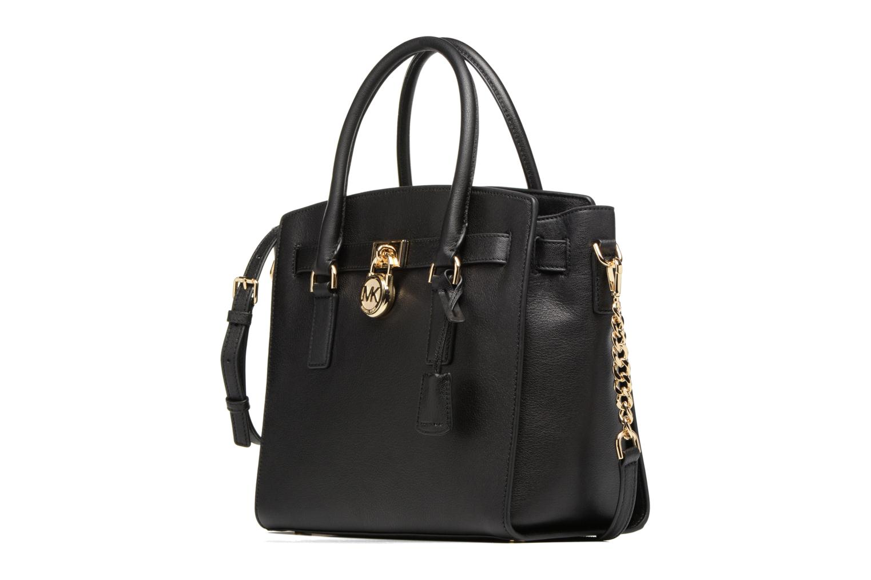 Bolsos de mano Michael Michael Kors Hamilton LG EW Stachel Negro vista del modelo