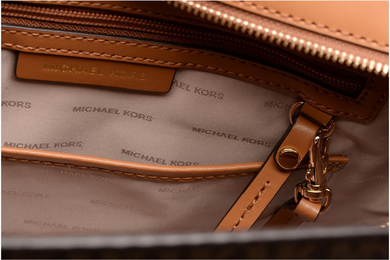 Borse Michael Michael Kors Hamilton LG EW Stachel Marrone immagine posteriore