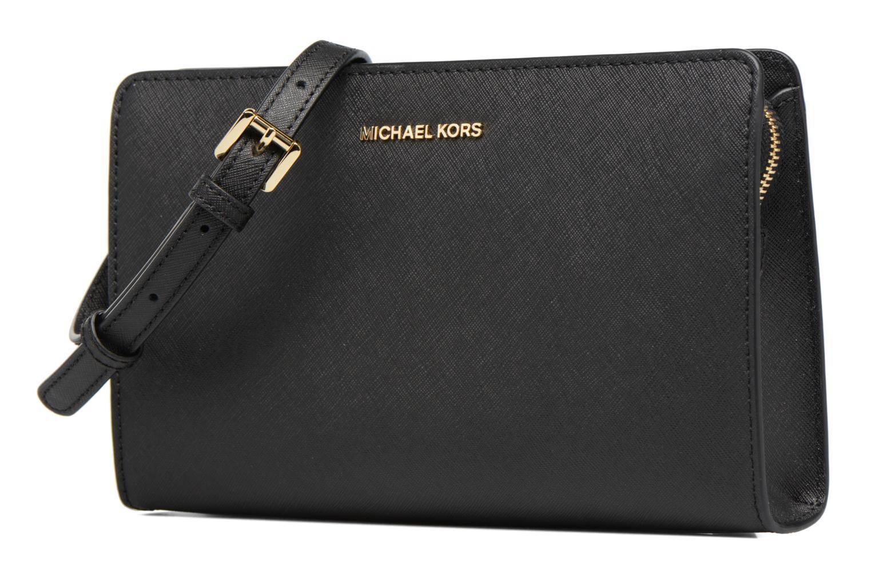 Bolsos de mano Michael Michael Kors Jet Set Travel LG Clutch Negro vista del modelo