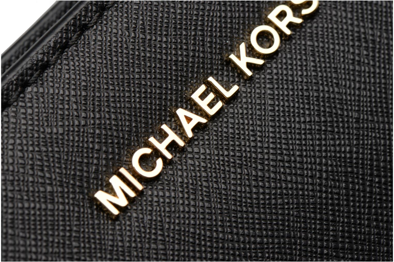 Bolsos de mano Michael Michael Kors Jet Set Travel LG Clutch Negro vista lateral izquierda