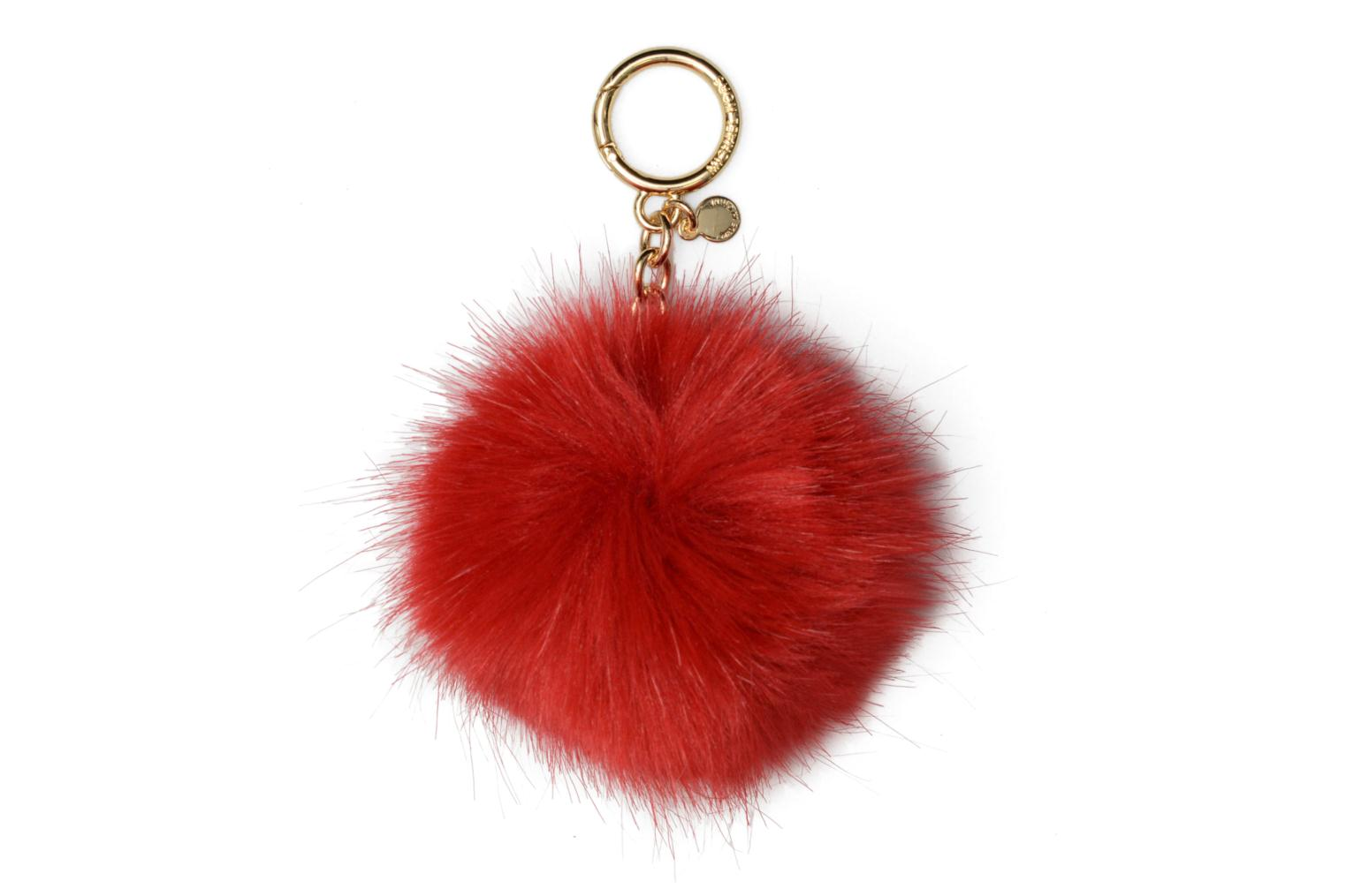 Fluffy Faux Pompon 204 Bright red