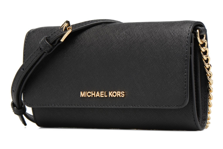 Sacs à main Michael Michael Kors Jet Set Wallet on a chain Noir vue portées chaussures