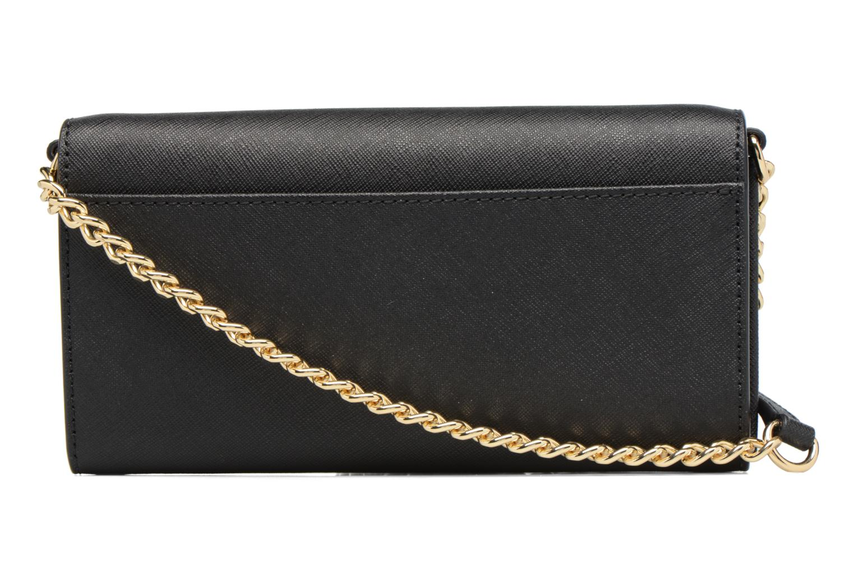 Sacs à main Michael Michael Kors Jet Set Wallet on a chain Noir vue face