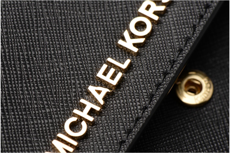 Sacs à main Michael Michael Kors Jet Set Wallet on a chain Noir vue gauche