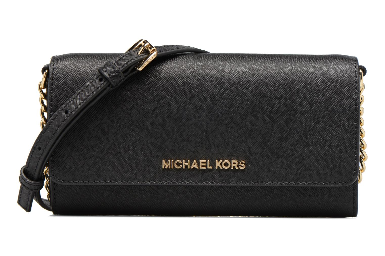 Bolsos de mano Michael Michael Kors Jet Set Wallet on a chain Negro vista de detalle / par