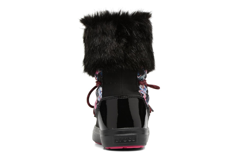 Bottes Crocs LodgePoint Graphic Lace Boot W Noir vue droite
