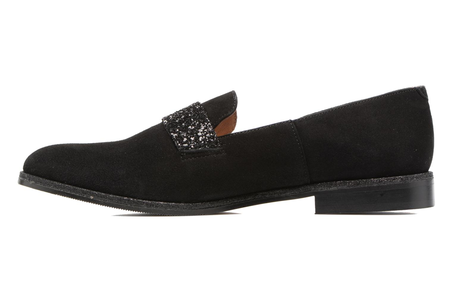 Loafers Georgia Rose ESTELLA Black front view