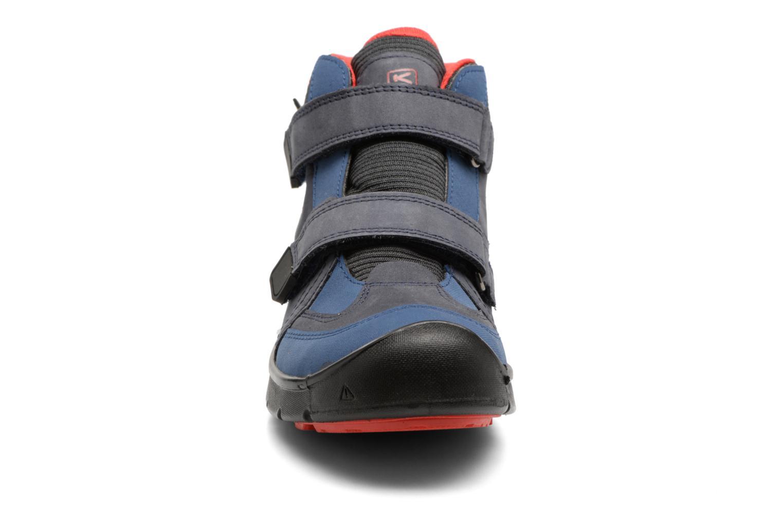 Chaussures de sport Keen Hikeport Mid Strap Bleu vue portées chaussures