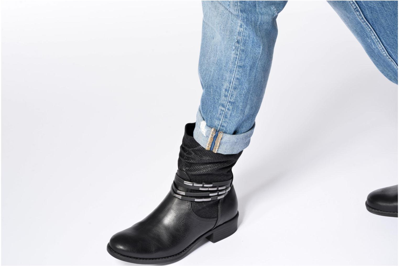Bottines et boots Marco Tozzi Pala Noir vue bas / vue portée sac