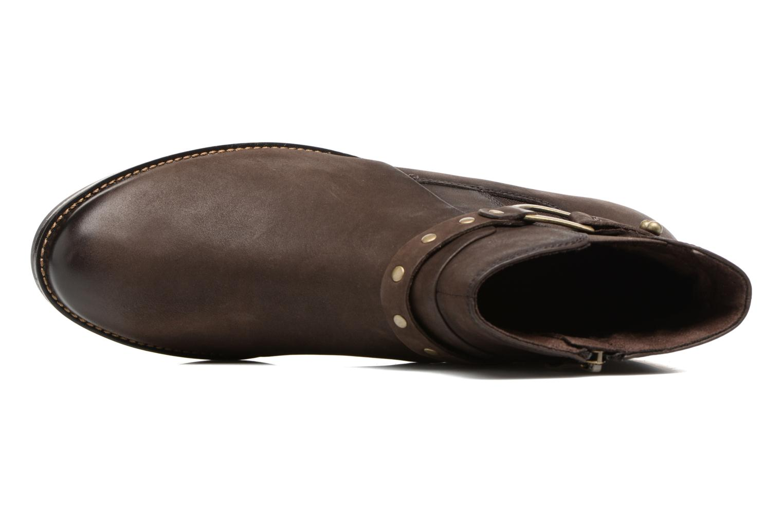 Kapria Dark Brown Nubuc