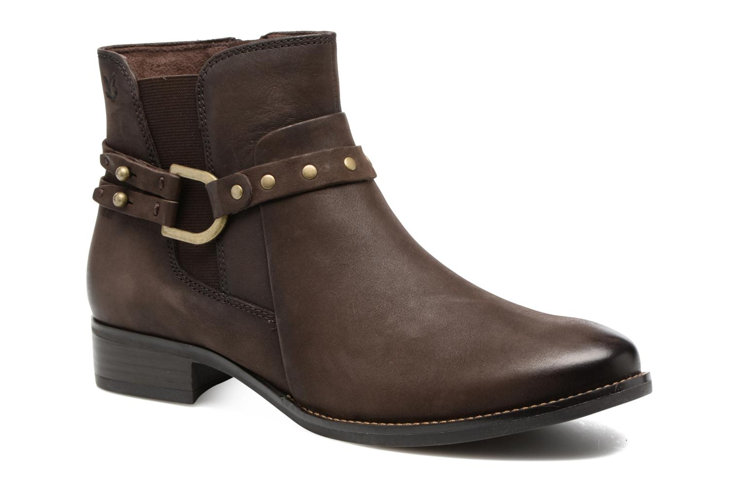 Kapria Dark Brown Nubuc