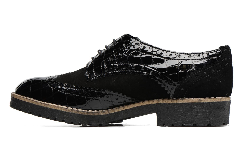 Chaussures à lacets Dune London Faune Noir vue face