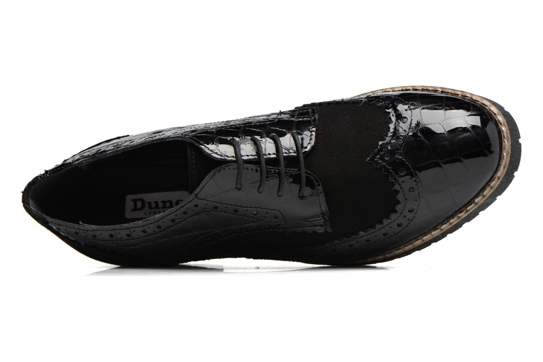 Chaussures à lacets Dune London Faune Noir vue gauche
