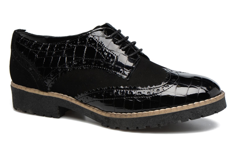 Chaussures à lacets Dune London Faune Noir vue détail/paire