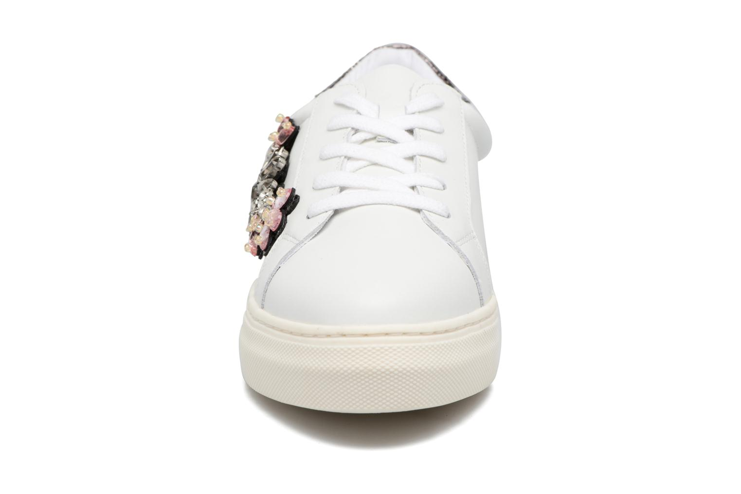 Emerelda White leather