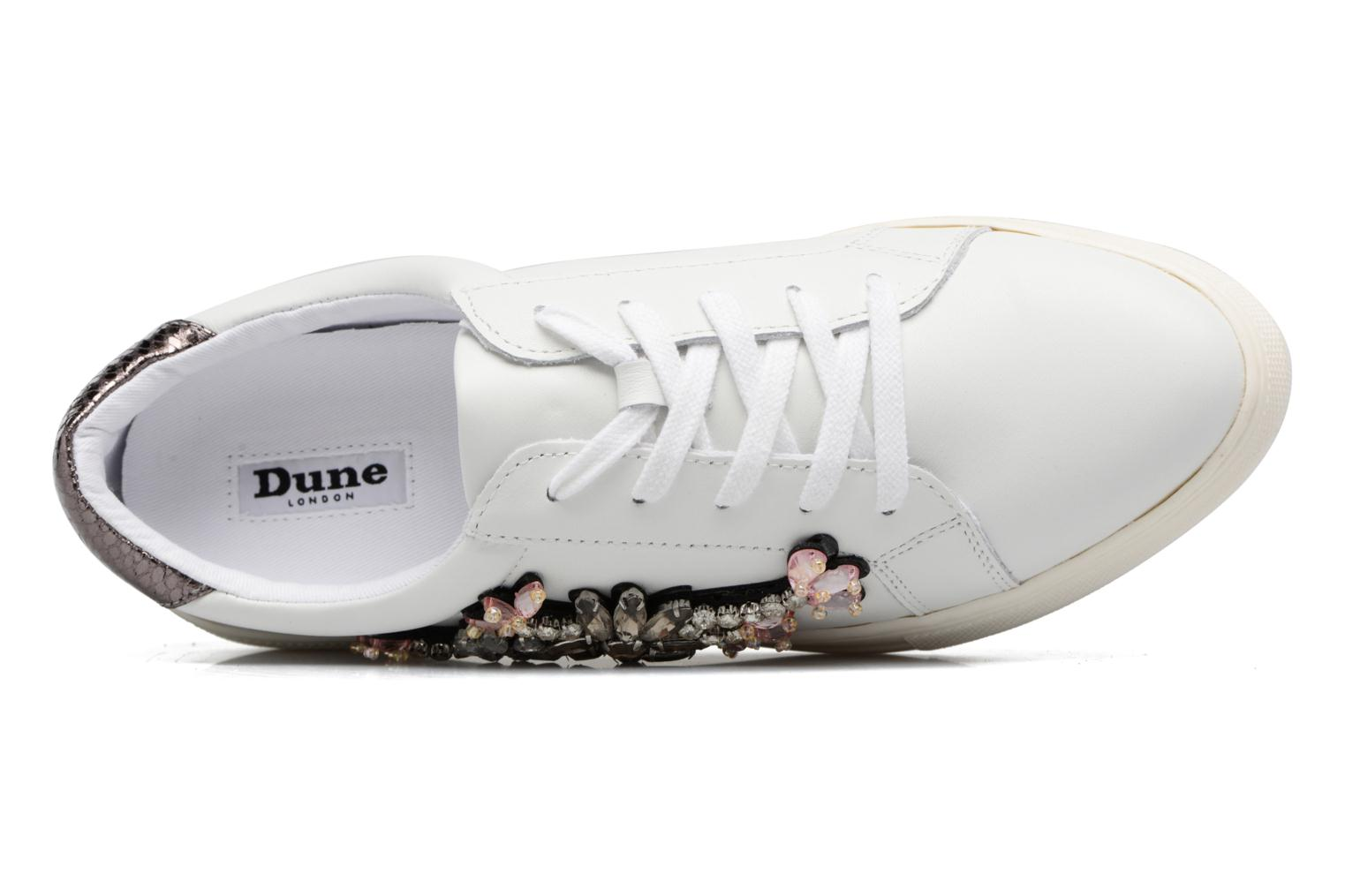 Baskets Dune London Emerelda Blanc vue gauche