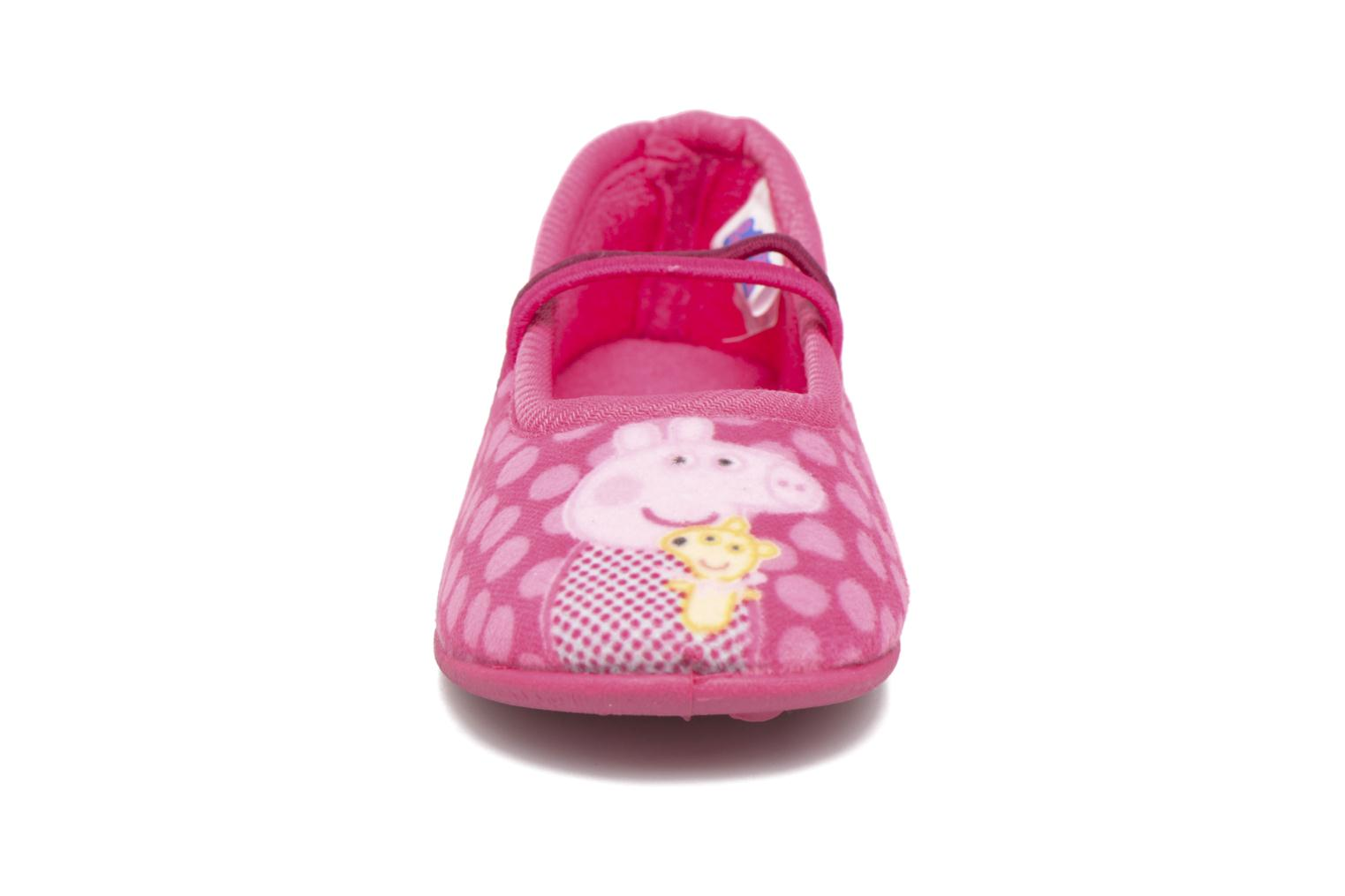 Chaussons Peppa Pig PP Rolane Rose vue portées chaussures