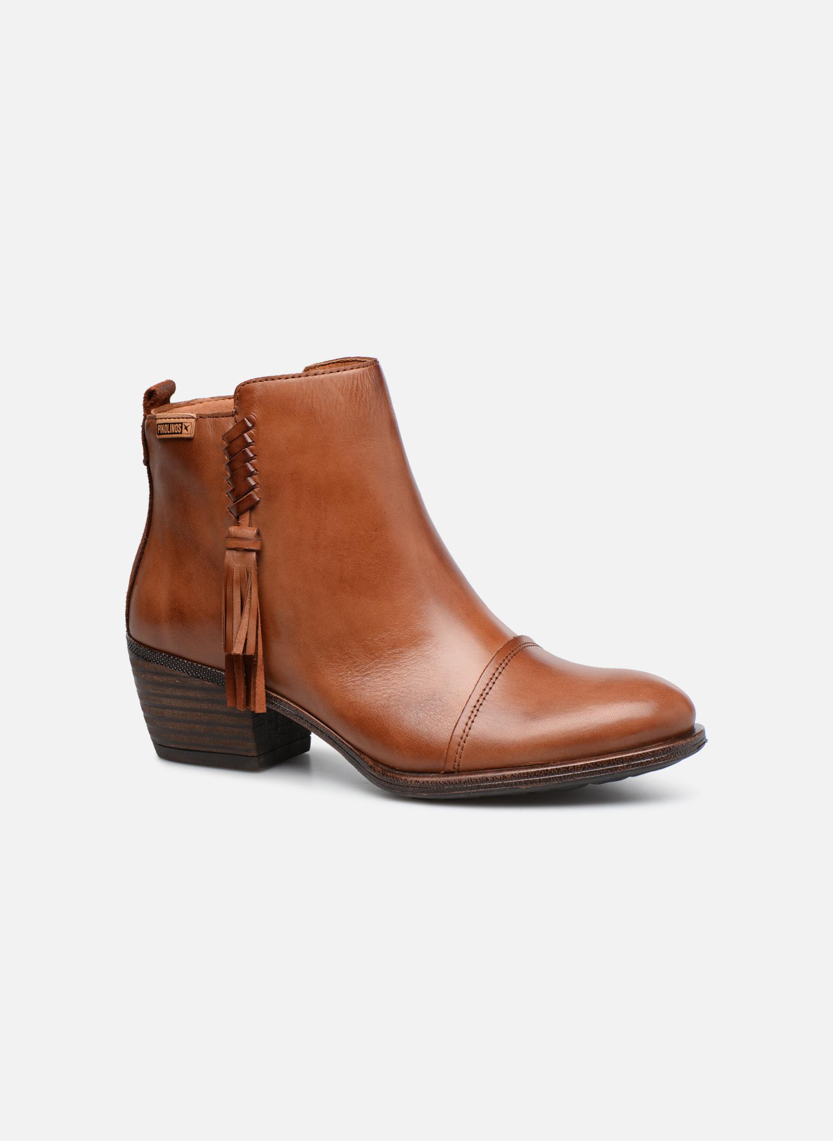Bottines et boots Pikolinos Baqueira W9M-8941 Marron vue détail/paire