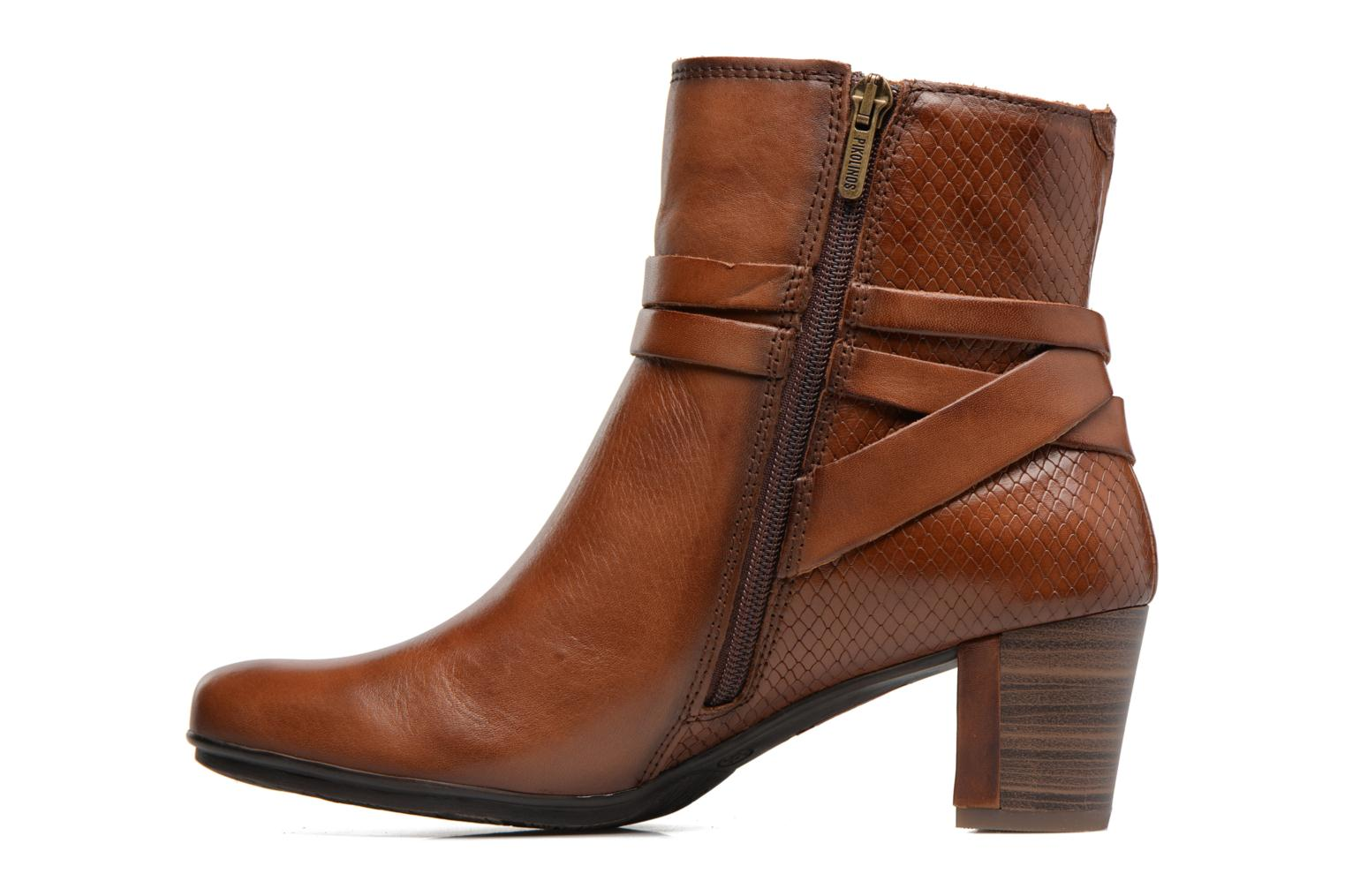 Ankle boots Pikolinos SEGOVIA W1J-8531 Brown front view
