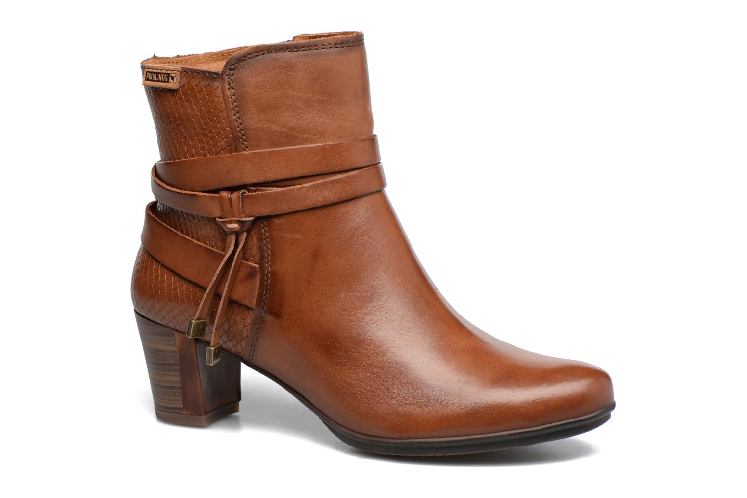 Ankle boots Pikolinos SEGOVIA W1J-8531 Brown detailed view/ Pair view