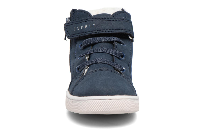 Baskets Esprit Jojo Zip Bootie Bleu vue portées chaussures
