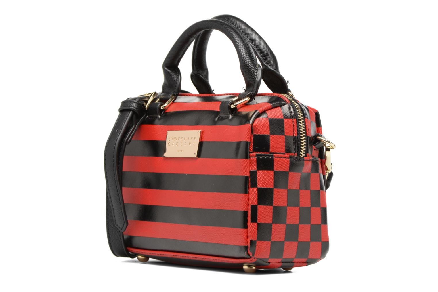 LOLA Bowling Bag S Rayures rouge/noir