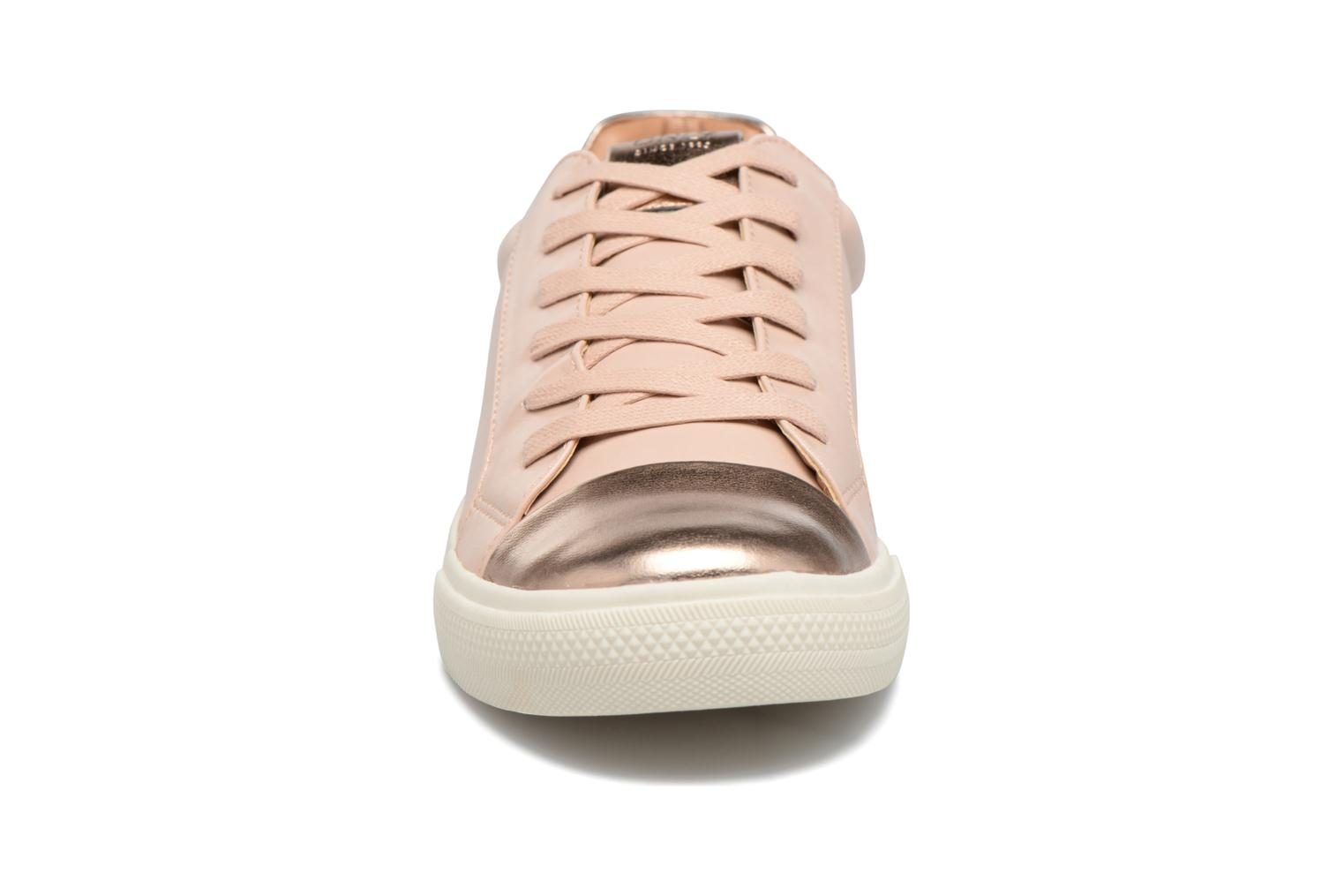 Baskets ONLY Sira skye nude sneaker Rose vue portées chaussures