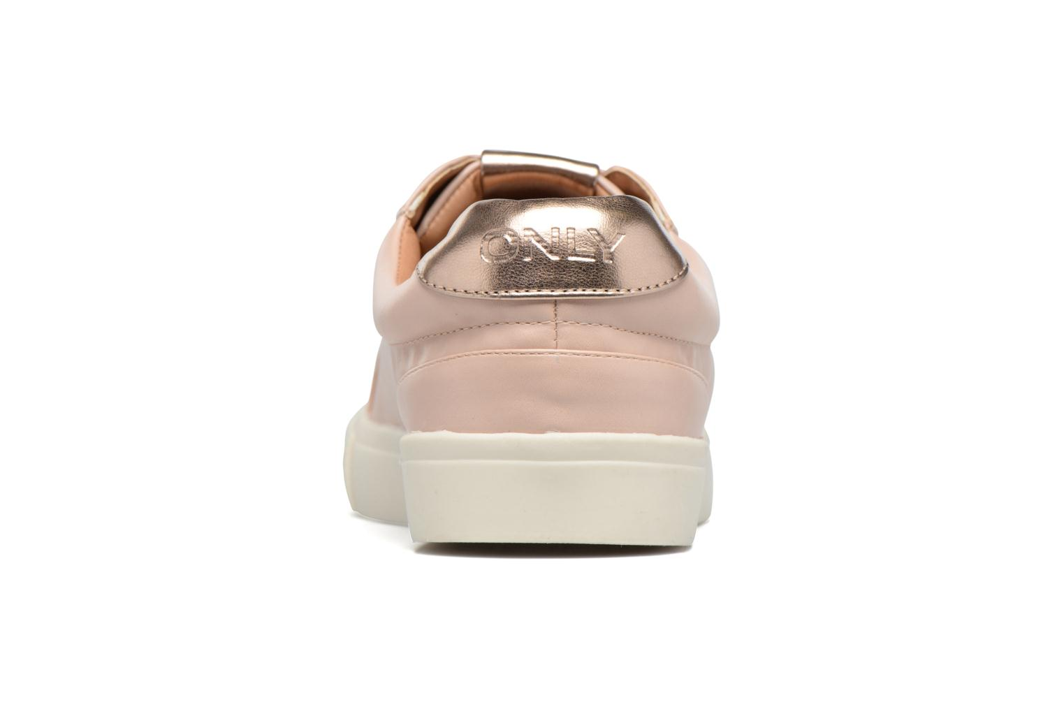 Baskets ONLY Sira skye nude sneaker Rose vue droite