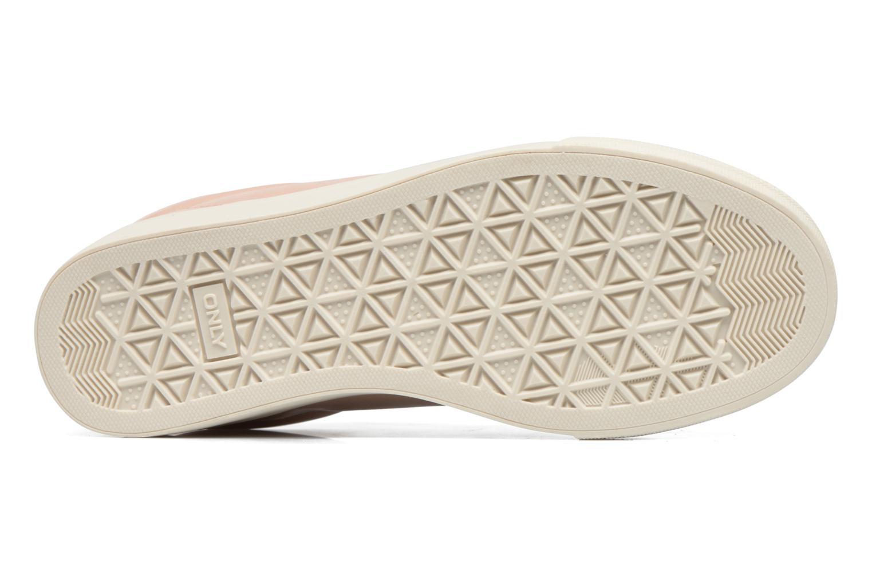 Baskets ONLY Sira skye nude sneaker Rose vue haut