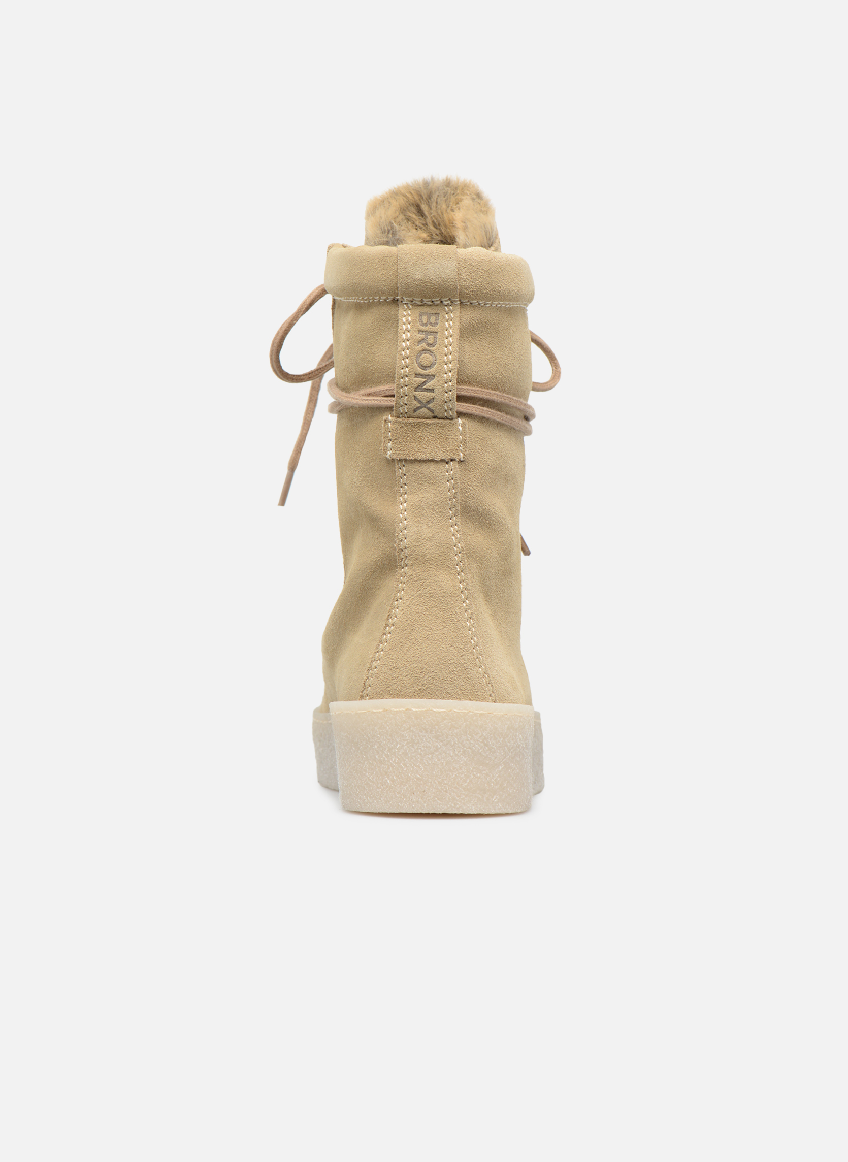 Bottines et boots Bronx Bsillax Beige vue droite