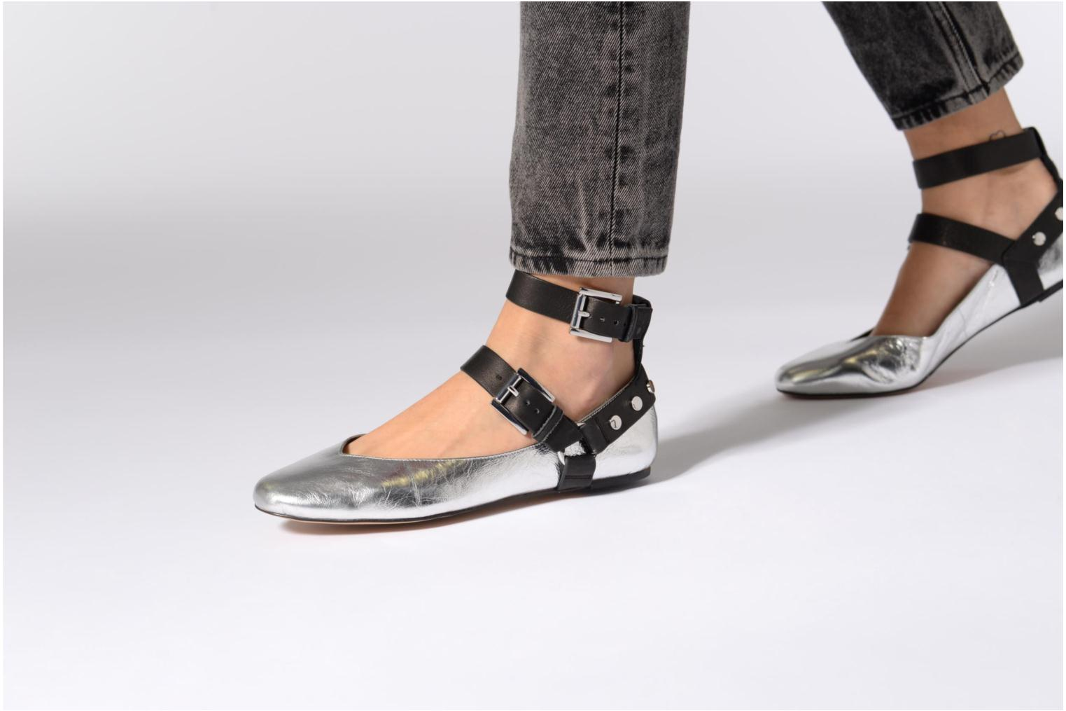 Ballet pumps Rebecca Minkoff Vivica Silver view from underneath / model view