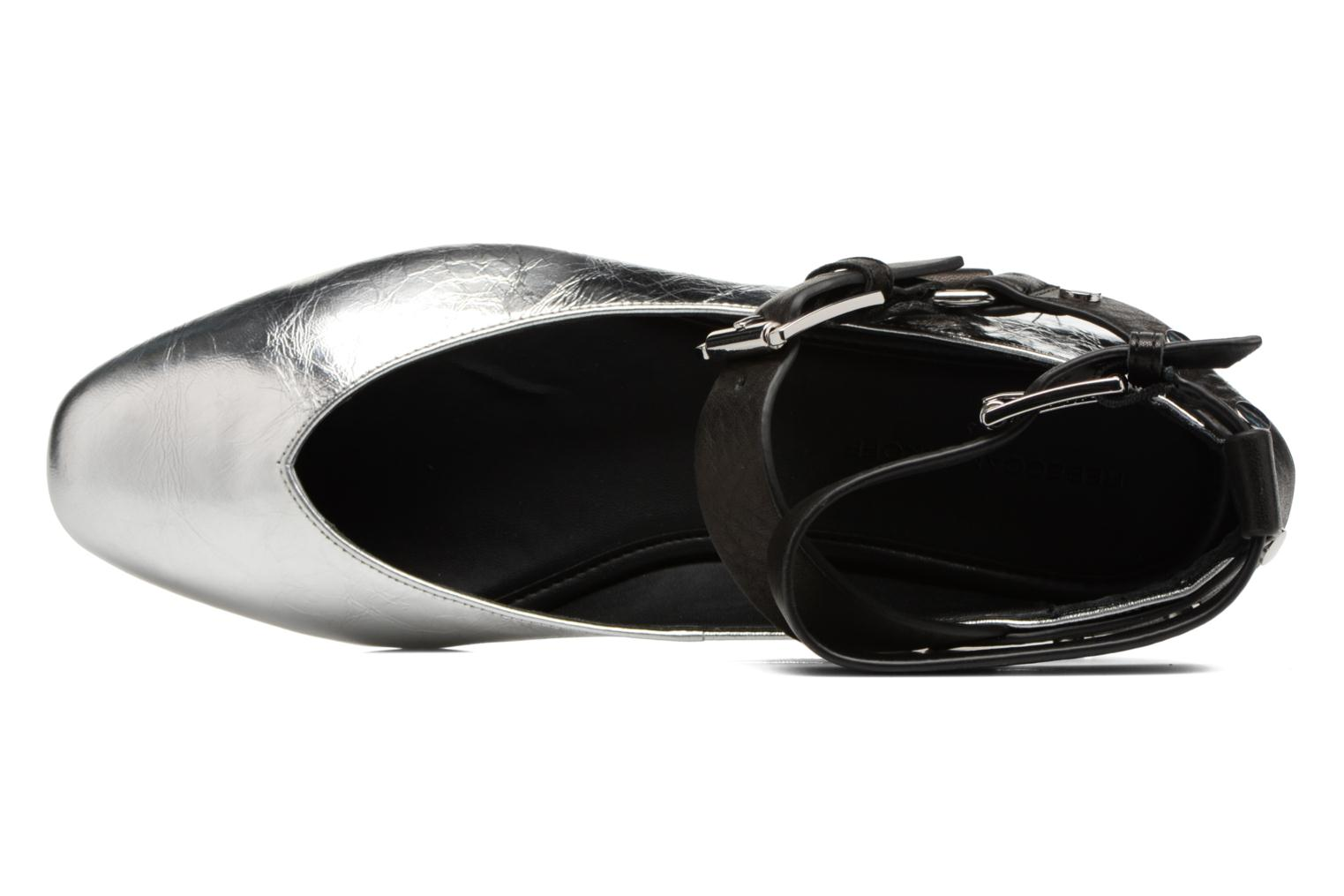 Ballet pumps Rebecca Minkoff Vivica Silver view from the left