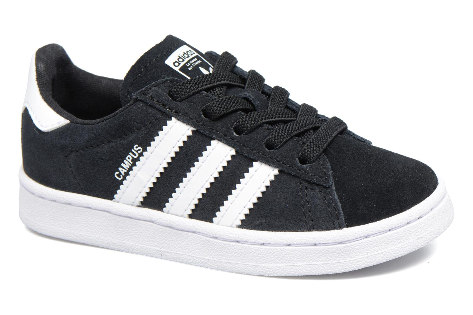 Baskets Adidas Originals Campus El I Noir vue détail/paire