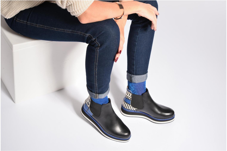 Made by Sarenza X Camille Walala Flat Boots Print walala Blue